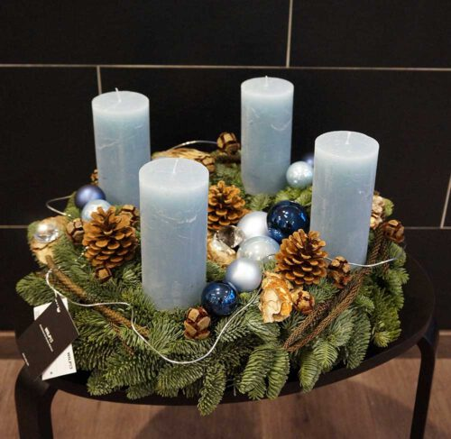 Adventkranz LightBlue