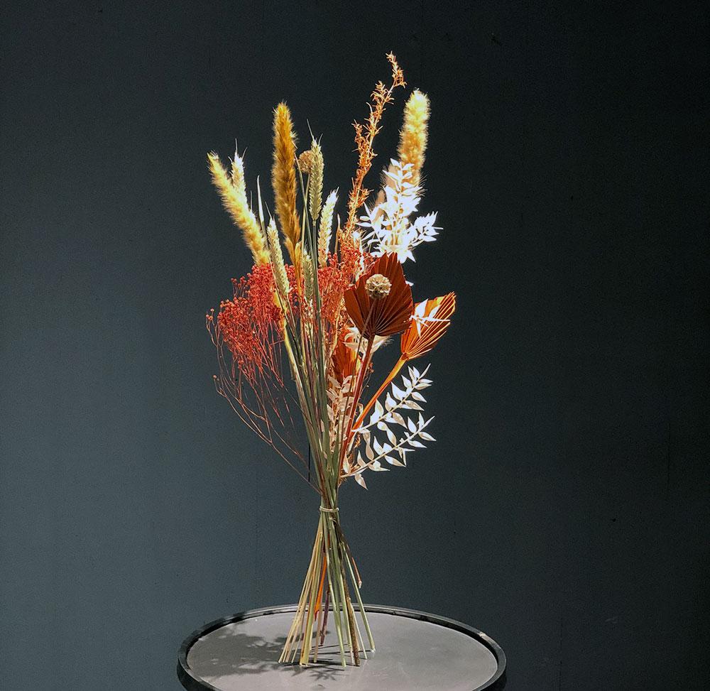 Trockenblumen Mix rot
