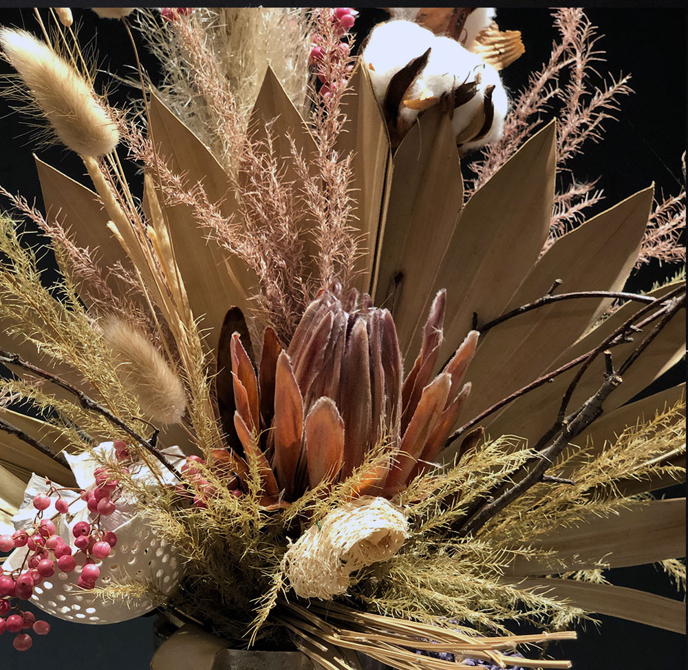 Trockenblumenstrauß mit Prothea