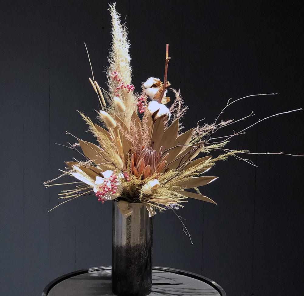 Trockenblumenstrauß mit ausgesuchen Trockenblumen