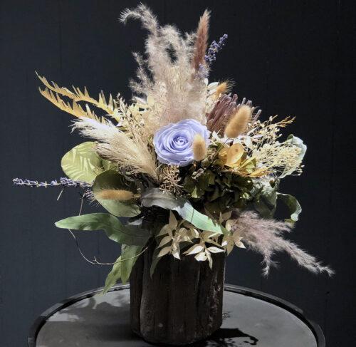 Trockenblumenstrauß mit stabilisierter Rose