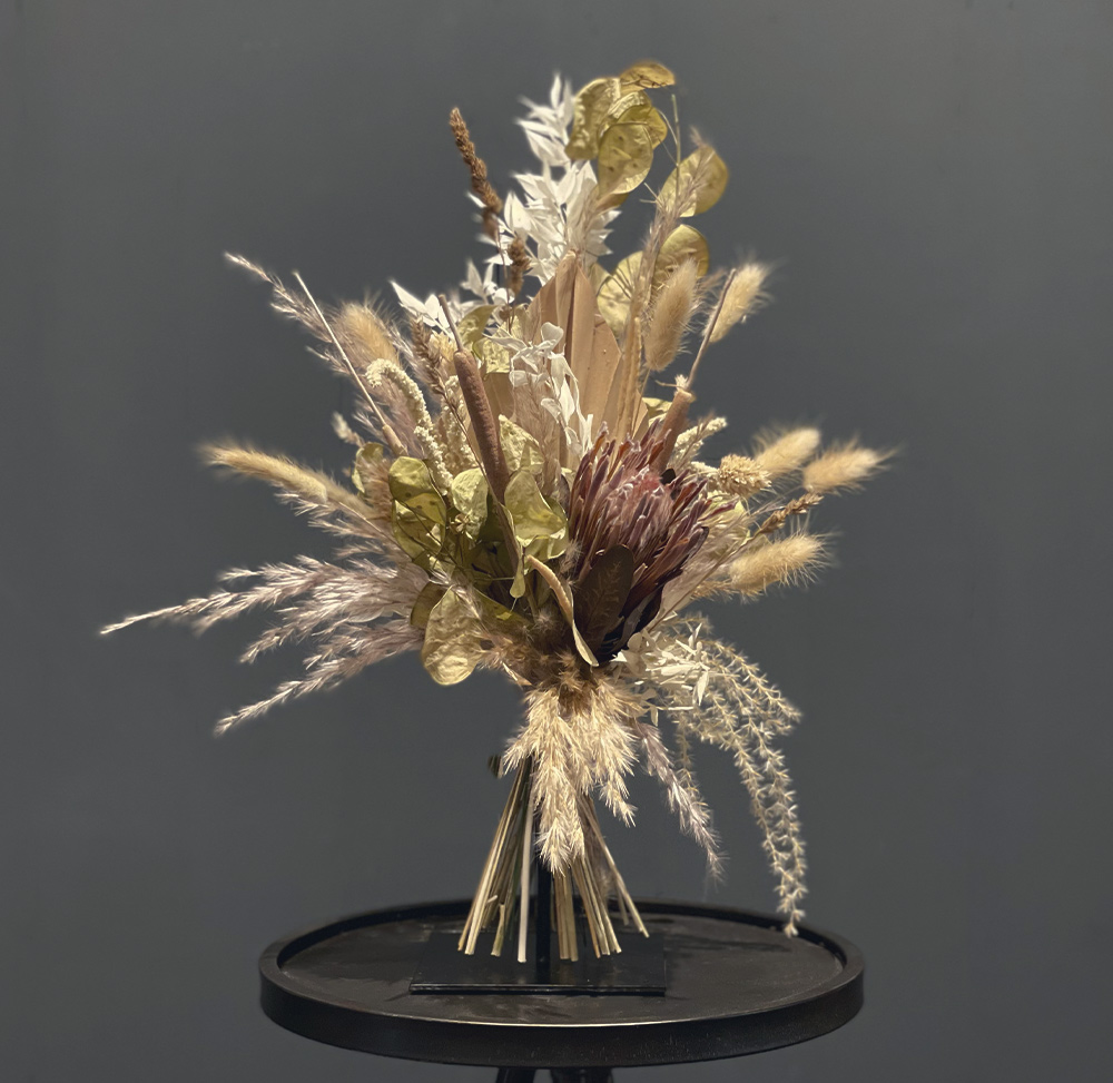 Trockenblumenstrauß Protea
