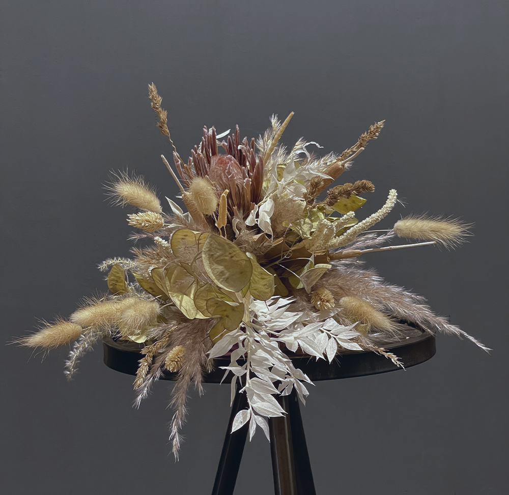 Trockenblumenstrauss Protea